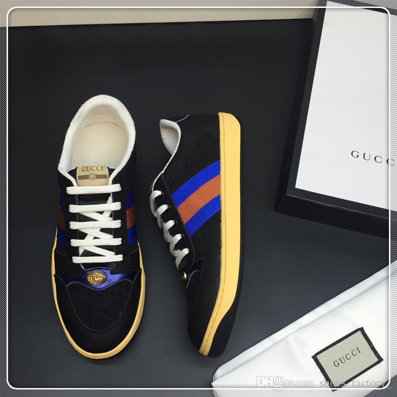 chaussures de sport de luxe à lacets chaussures de designer confort assez luxe baskets chaussures de cuir occasionnels hommes baskets extrêmement durable stabilité f32