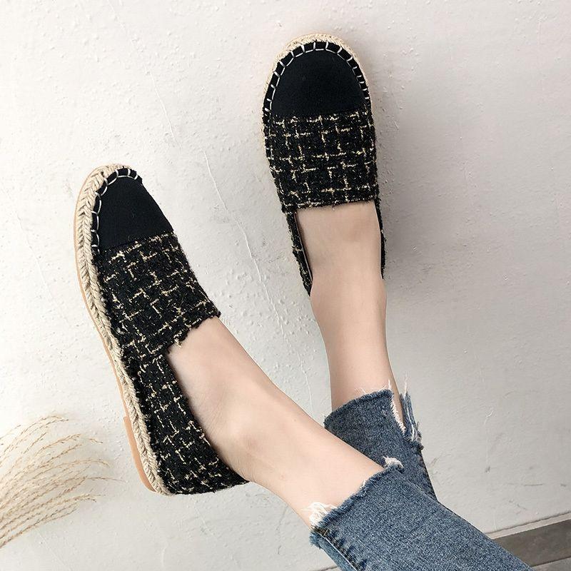 Zapatos de Corea suave de los holgazanes Con La Piel de otoño colores mezclados punta redonda Mujer Calzado casual zapatilla de deporte 2020 Nueva Slip-on Fall verano
