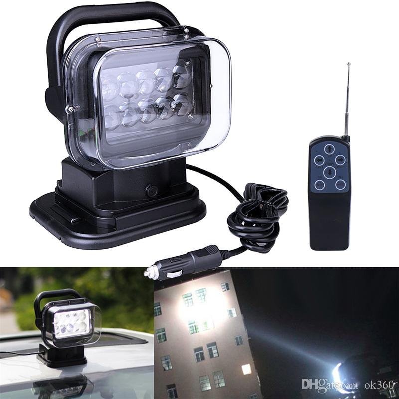 Car 50W 4200lm LED Search Light with Remote and Magnetic Base 360° Spot Lamp