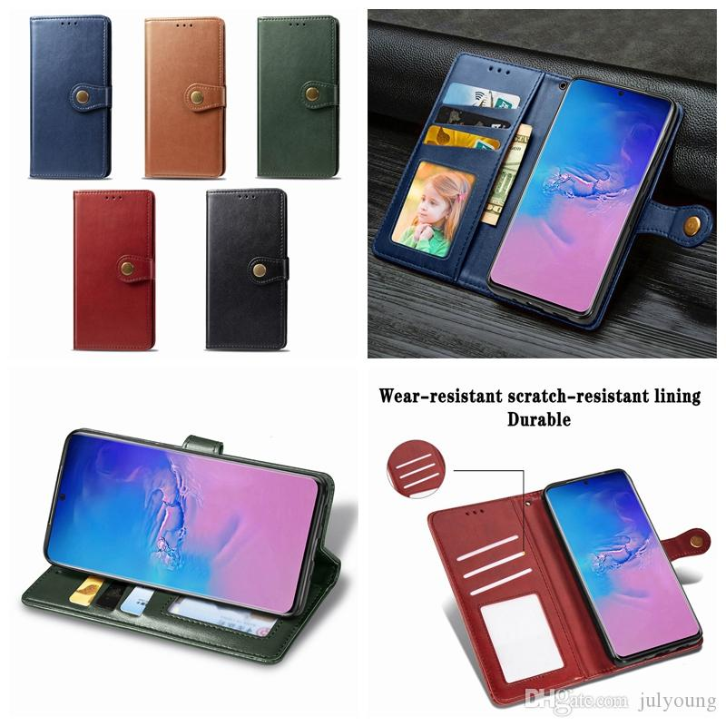 For Samsung Galaxy S20 Ultra S20 A01 A21 A91 A71 A51 Vintage Leather Wallet Case Retro Ancient Flip Cover Card ID Slot Holder Magnetic Stand