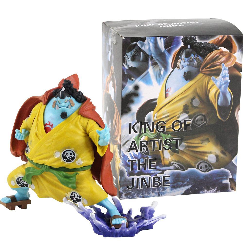 15 см Аниме One Piece King Of Исполнитель Jinbe ПВХ Действие Рисунок Коллекционные модели игрушек руки