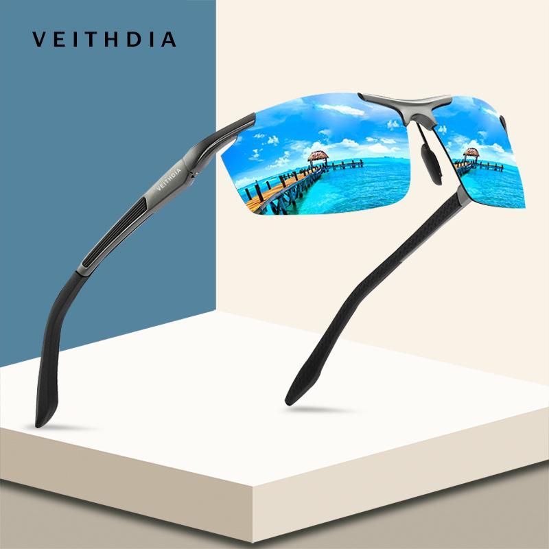 Veithdia Aluminium Magnesium Sport Sonnenbrille Polarisierte Männer Beschichtung Spiegel Fahren Oculos männlichen Brillen Zubehör Y200420