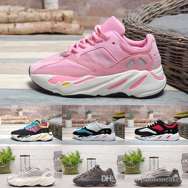 2019z Novas Vendas Quentes 700 s Onda Corredor Sapatos de Corrida Malha Kanye West Confortável Designer de Sapatos 700 s V2 Esportes Estáticos Seankers Tamanho 36-46