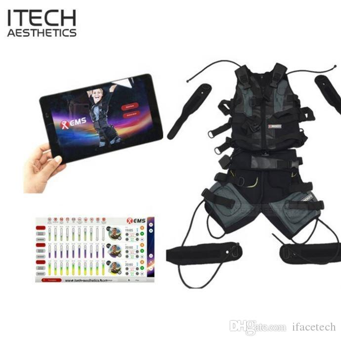 Wireless Body EMS Training Machine Fitness Suit Jacket Vest Xbody muscle stimulation Pad Control Sport club Gym Indoor outdoors