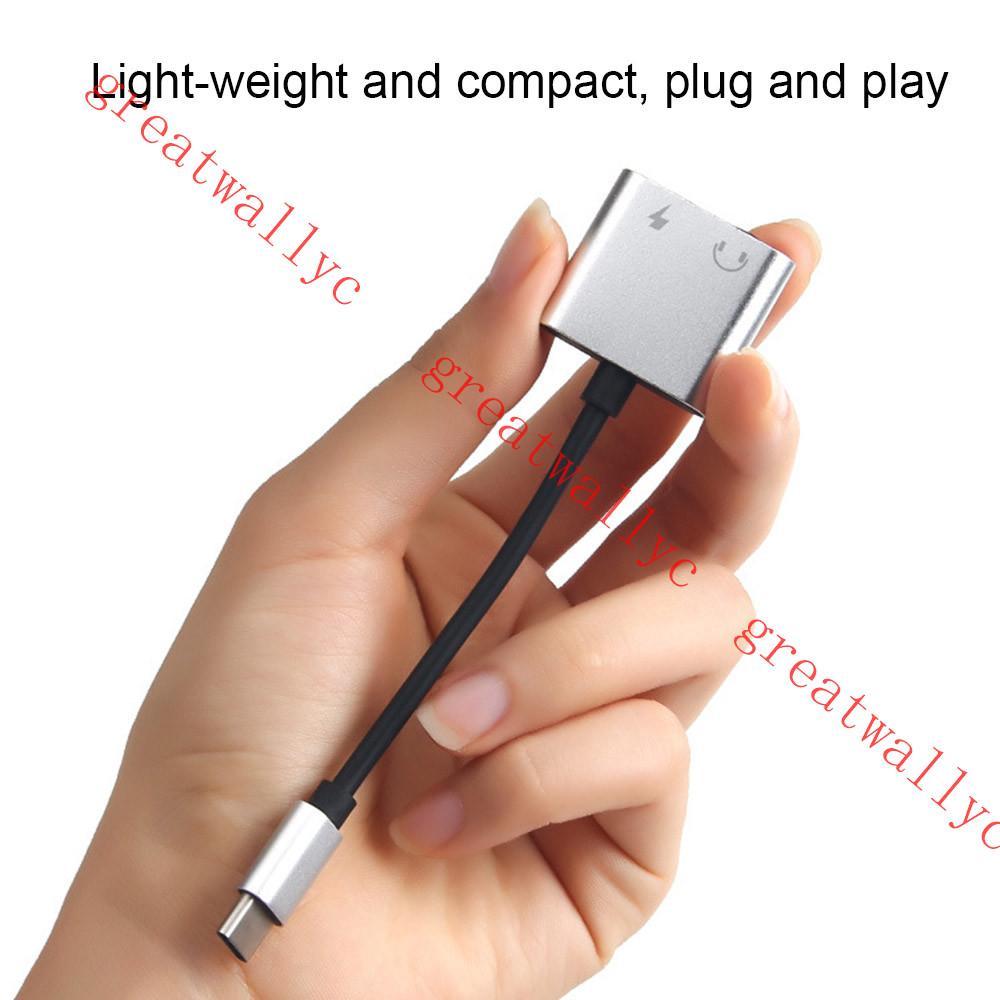 Typ C Adapter Aux Audio Adapter USB Typ C auf 3,5 mm Kopfhöreranschluss Adapter für Huawei P20 S8 ohne 3,5-Buchse