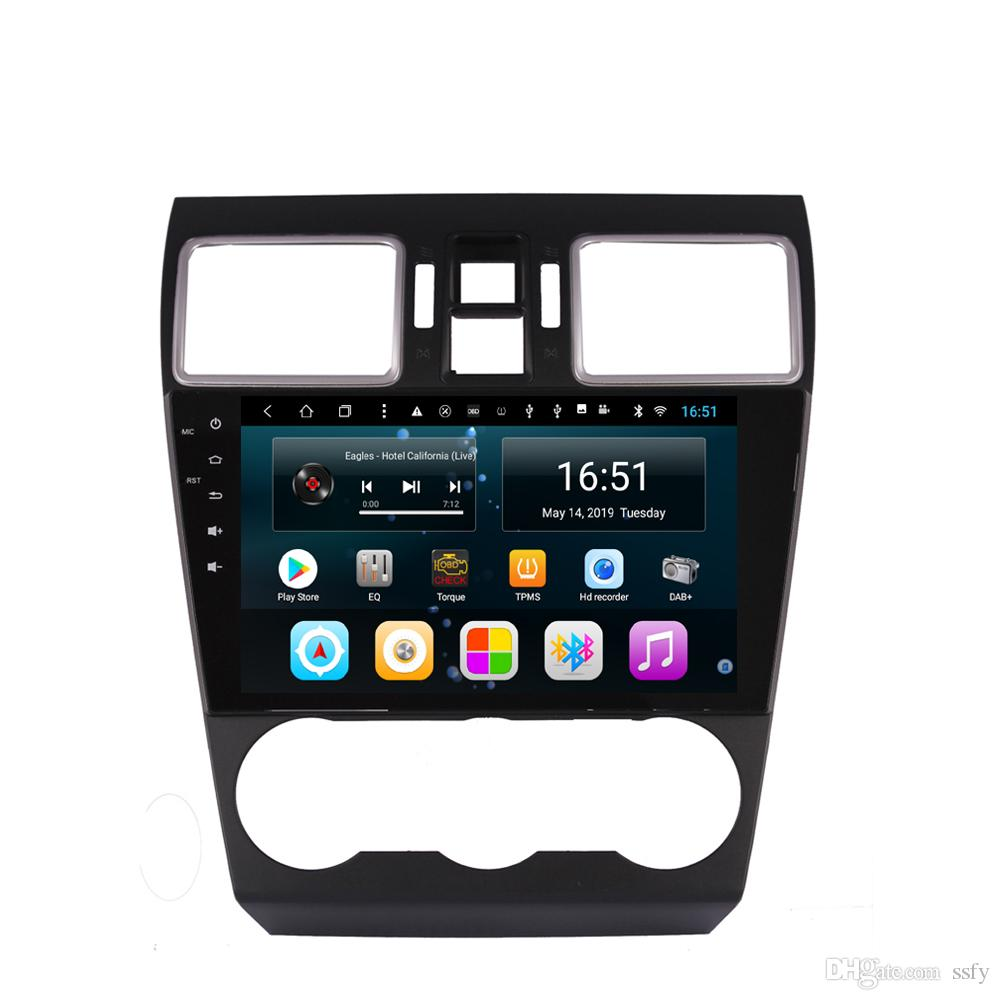 Android car player with precise GPS navigation free map camera bluetooth microphone lossless mp3 mp4 music for Subaru Forester 2013-2017 9""