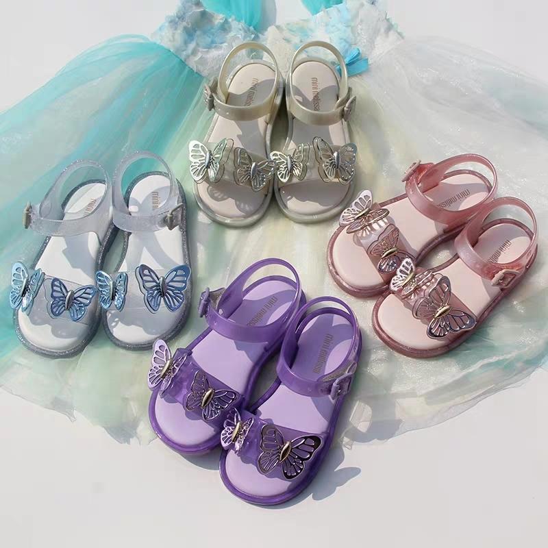 미니 멜리사 한국어 여름 여자 샌들 장식 조각 플라스틱 샌들 패션 아기 유아 여자 신발 댄스 공주 어린이 신발 T200507
