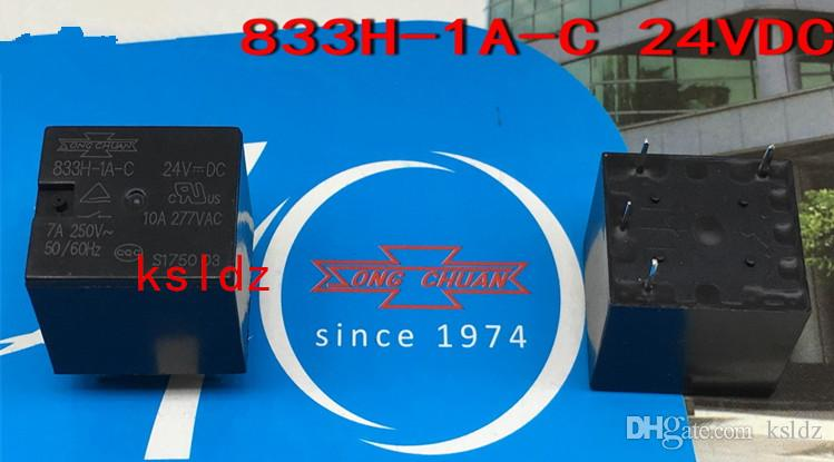 Freies Verschiffen Los (5pieces / lot) original New SONGCHUN 833H-1A-C-12VDC 833H-1A-C-24VDC 4pins DC12V DC24V 10A Leistungsrelais