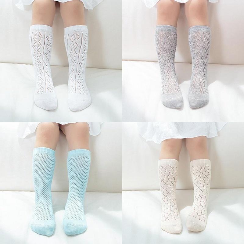 2019 novas crianças de verão meias para meninas multicolor de algodão princesa crianças meias de joelho meninas malha macia para 0-8 anos