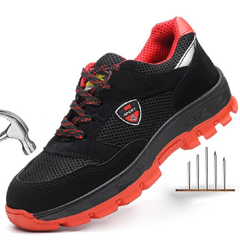 Hommes en acier Chaussures de sécurité au travail de la sécurité au travail Toe respirante Boot Anti-fracassant Indestructible Chaussures Sneakers Casual