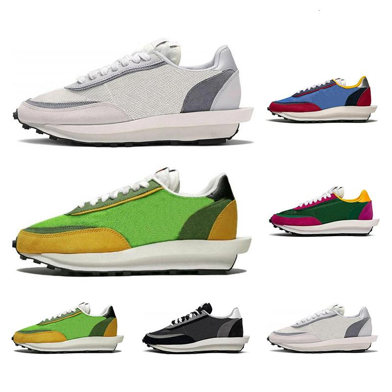 2019 Best Quality Sacai Ldv Waffle Running Shoes For Men Women Grey Pine Green Gusto Varsity Blue Mens Trainers Fashion Sports Sneakers