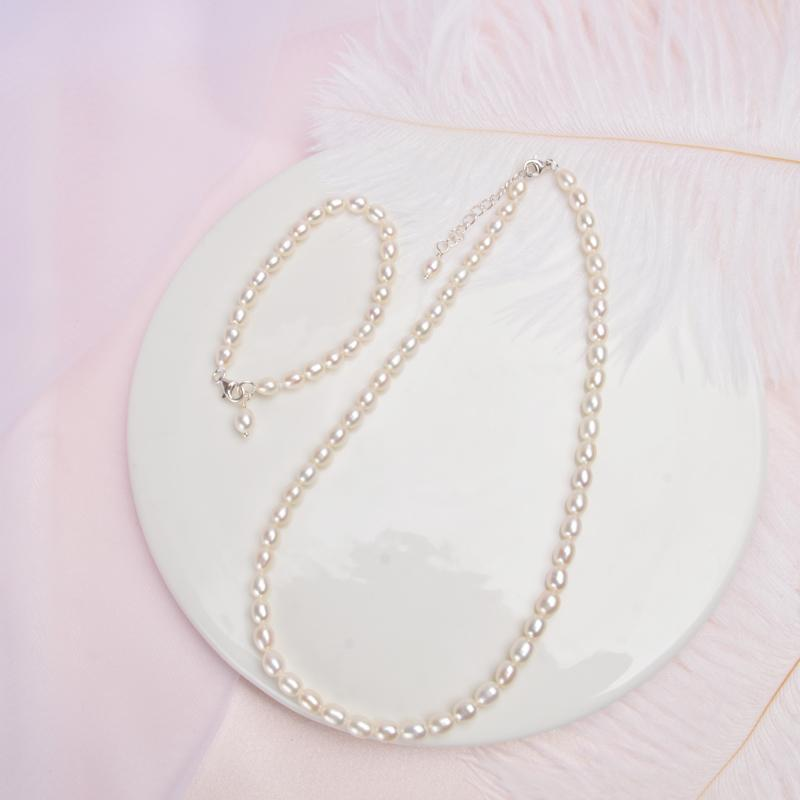 ASHIQI Children Jewelry Sets & more Real MiNi Natural Freshwater Pearl Neclace Bracelet Sets for Kid Girl Lovely Gift