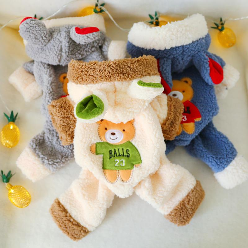 Inverno Hoodie do cão para cães pequenos Quente Pet revestimento do revestimento bonito macio e confortável filhote de cachorro gato roupas de algodão Pets Dogs Vestuário