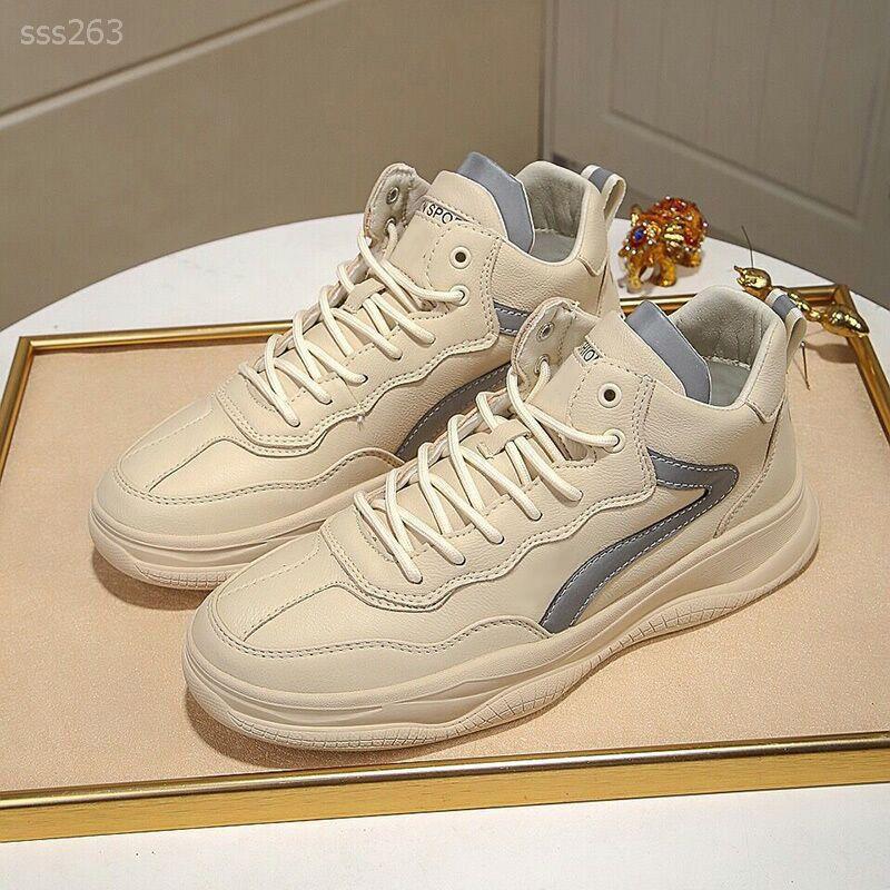Yeni Erkek ayakkabıları Gerçek Deri Yüksek Üst Kurulu Mizaç Havalandırma Casual Ayakkabı Trend Casual ayakkabılar Işık Erkek Trend Her Türlü ayakkabı
