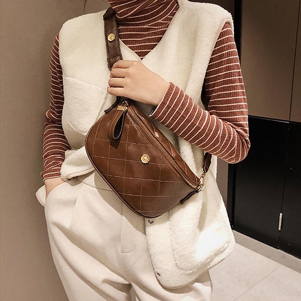 Waist Bags Fanny Packs Women Ladies Shoulder PU Leather Cross-body Chest Pouches