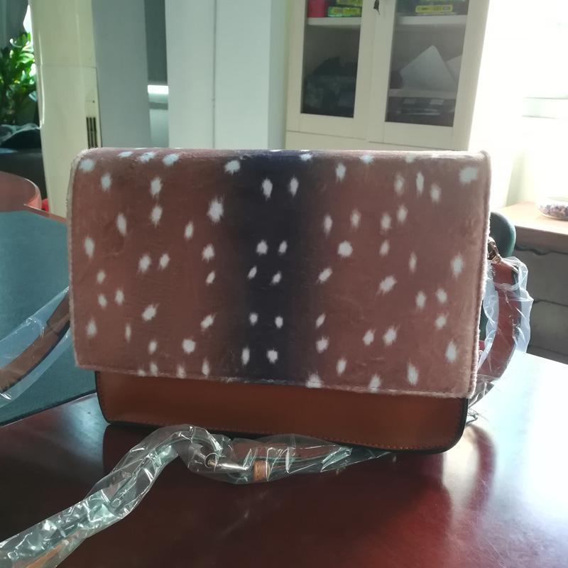 플란넬 사슴 크로스 바디 가방 도매 공백 Domil 여성 어깨 가방 수제 표범 메신저 가방 DOM1061130