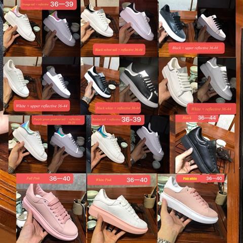 2020 lüks tasarımcı mc modelleri erkekler kadınlar moda statik yansıtıcı Ayakkabı mqueen platformu Spor ayakkabı erkek chaussures 6c4 sneakerse Queens
