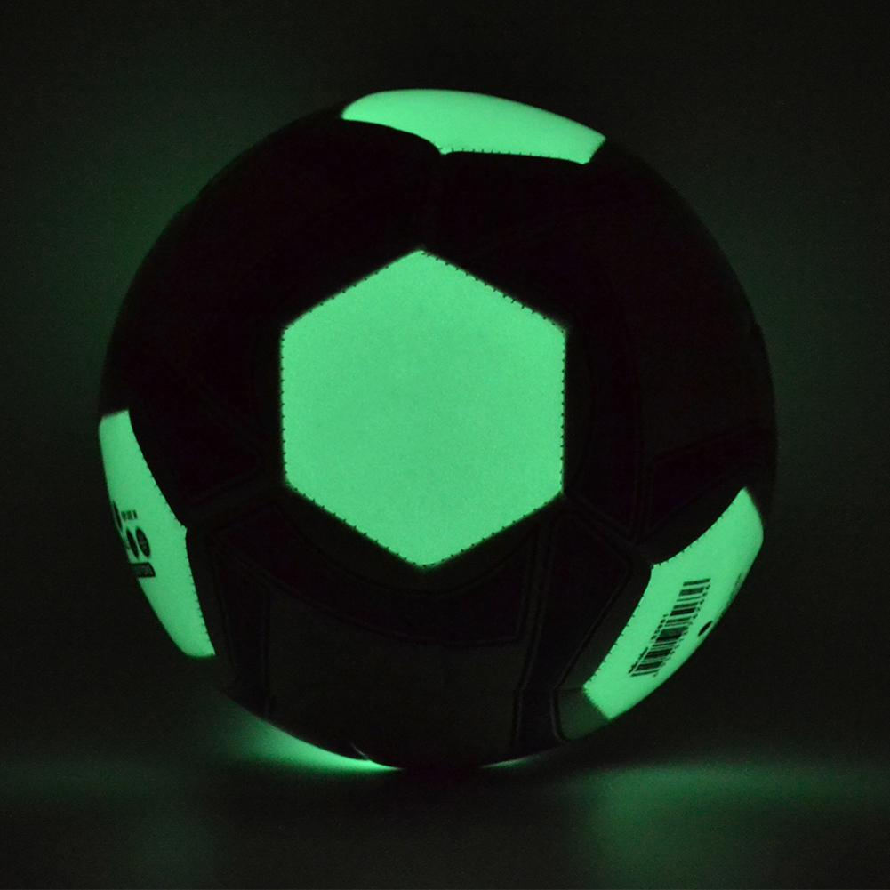 Футбольный мяч световой футбол ночь свет серебристые дети игра поезд люминесценции мяч Мужчины Женщины светящиеся футбол размер #4 #5