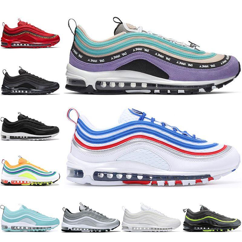 Nike air max 97 off white Avec Chaussettes Hommes Designer Chaussures de Course Lumineux Citron Persique Violet Londres été de l'amour Rouge Crush Sports Sneakers mens formateurs