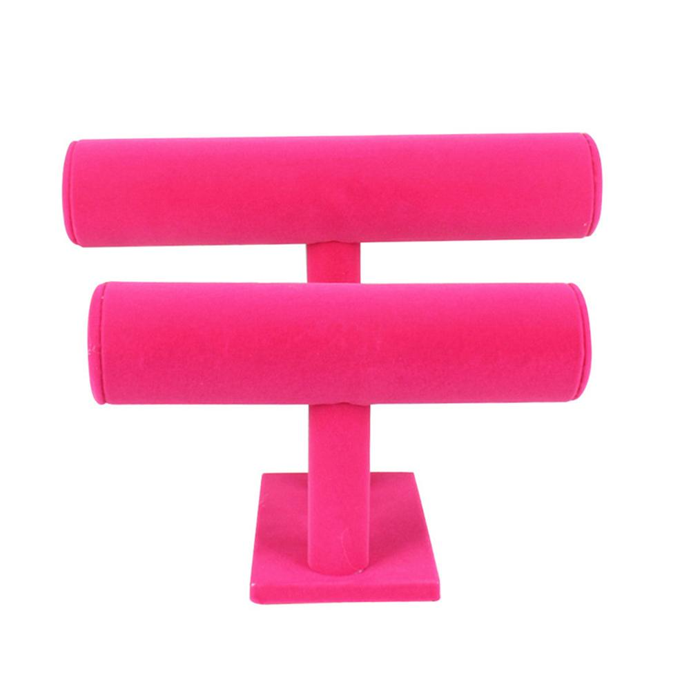 Velours détachable Bangle Bracelet de stockage d'affichage Accueil Bijoux stand Holder Boutique Desktop 2 Niveau Regarder Organisateur Showcase solide