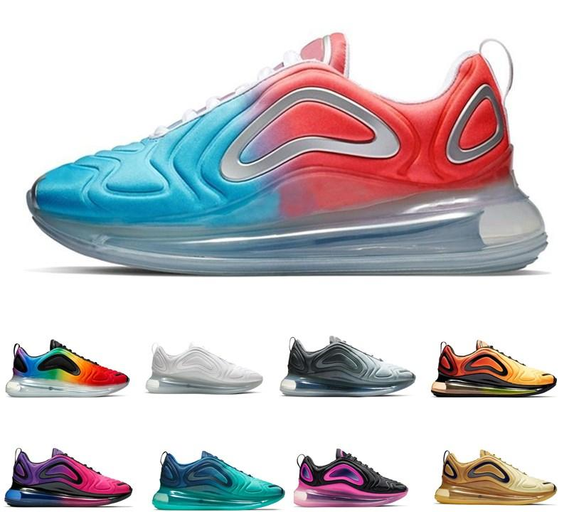 Novo Nike Air Max airmax 720 720s KPU 72C OG Outddoor Running Shoes Northern Lights Homens Mulheres Mar Floresta do sol triplos Mens Sunrise Trainers TPU Sports Sneakers