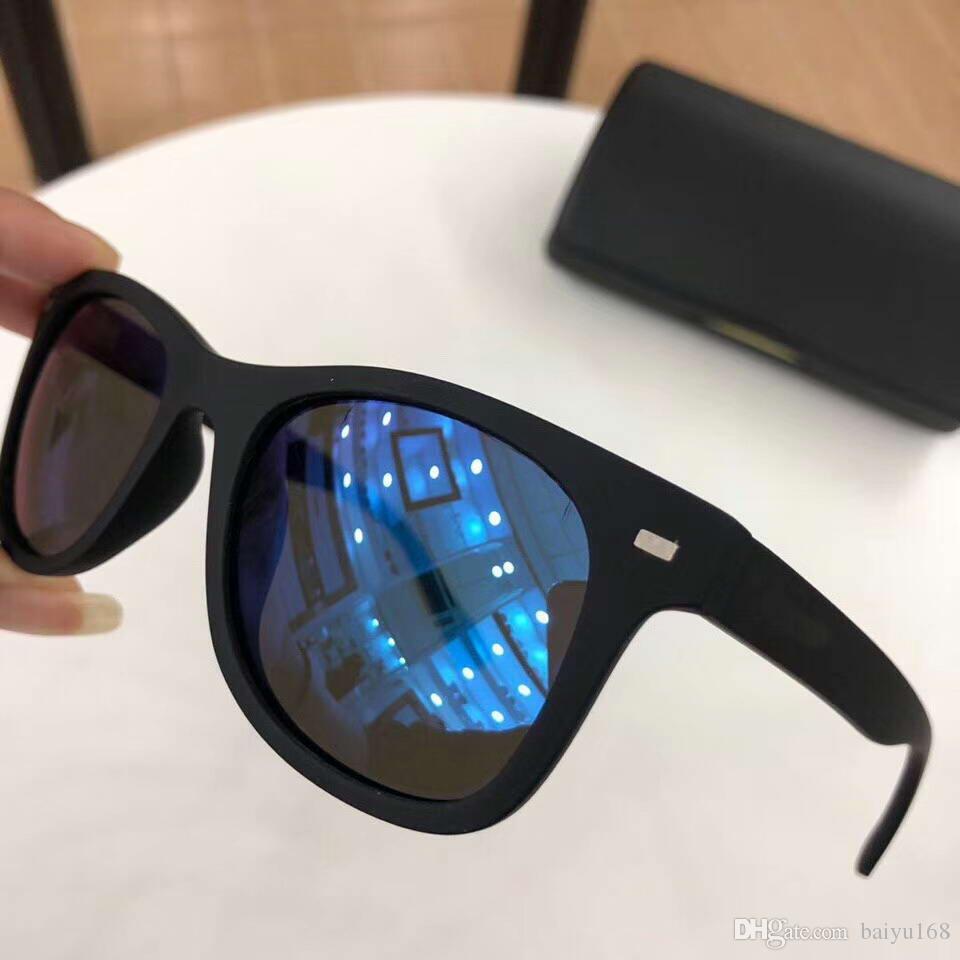 Polarize Güneş Gözlüğü Spike SK032 Matt Siyah Mavi Ayna Güneş Gözlükleri Erkekler Tasarımcı Güneş Gözlükleri kutusu ile Yeni