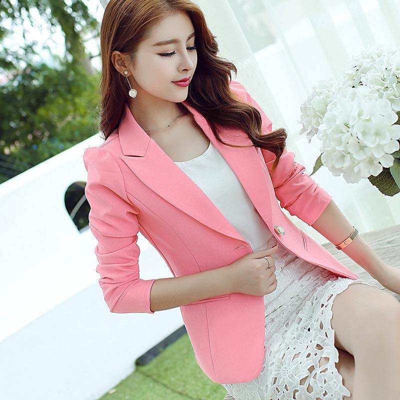 Größe Plus-S-2XL Lady Blazer 2016 lange Hülsen-elegante Blaser Female Fashion Jacke Büro Wear Herbst-Frauen-Blazer A8082