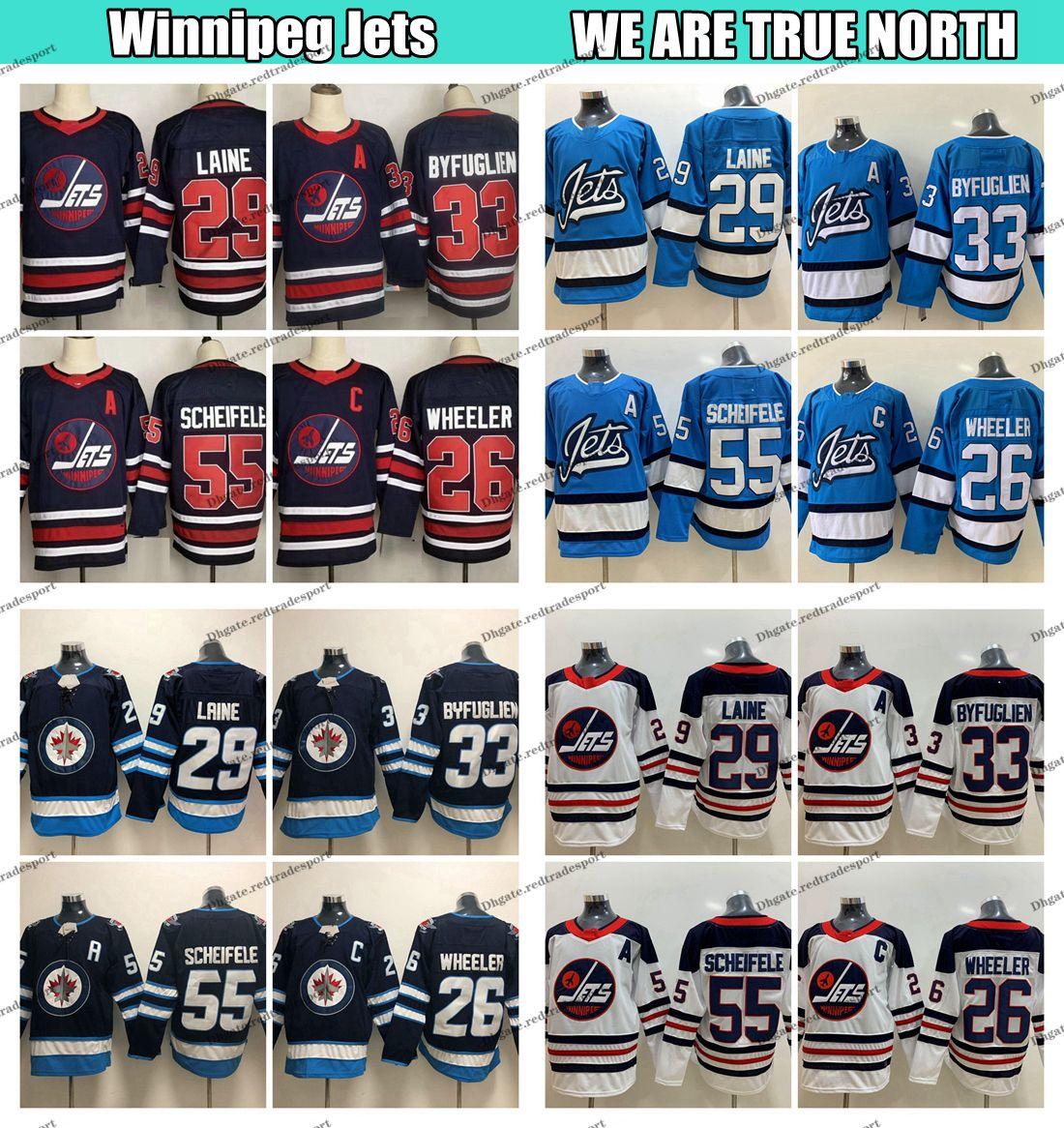 2019 Heritage Classic Winnipeg Jets 29 Patrik Laine 55 Marcos 26 Scheifele Blake Wheeler 33 Dustin Armada BYFUGLIEN blanca jerseys del hockey