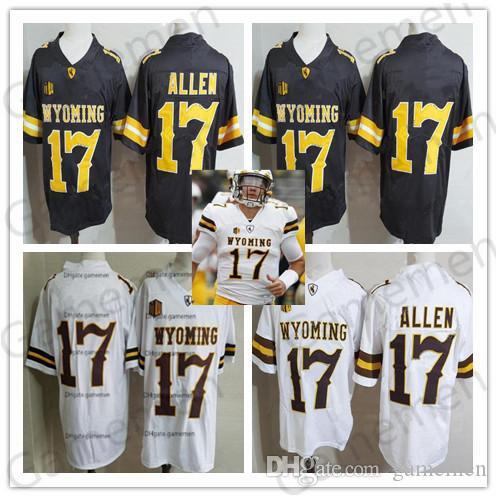 2021 NCAA 17 Josh Allen Wyoming Jersey Brown White Cheap Men Youth ...