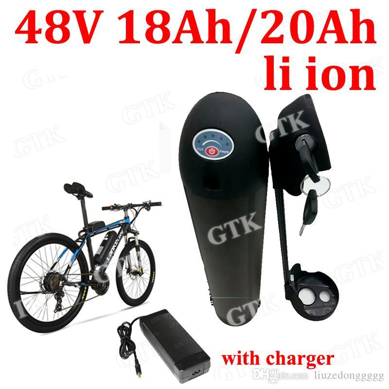 48v 12Ah литий-ионная Bateria 18650 48V 10Ah литий-ионный аккумулятор черная бутылка воды аккумулятор для 48В 350w Ebike велосипеда + 2A зарядное устройство + BMS