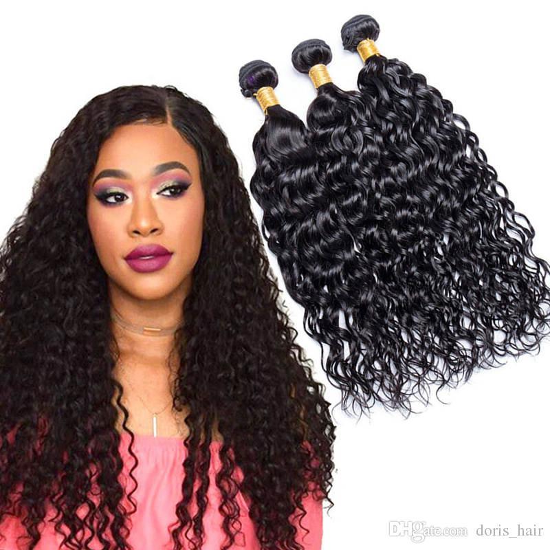 TOP Grade 9a brazilian Water Wave virgin hair sew in weave 100 human hair bundles weft 3 Pcs Unprocessed Mink Hair extension