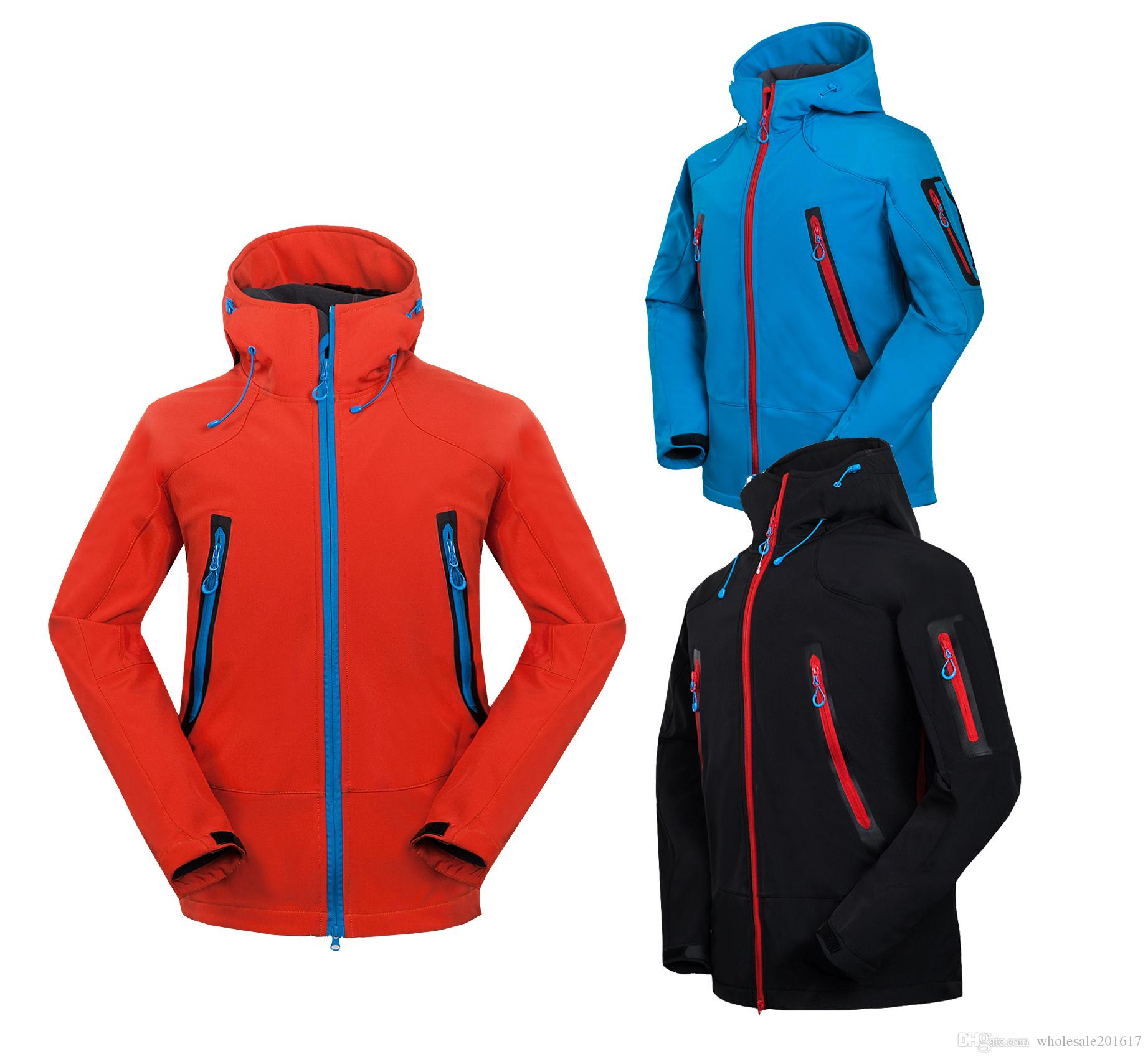 nuovi uomini HELLY giacca invernale con cappuccio Softshell per antivento e impermeabile morbido cappotto Shell Jacket HANSEN Giacche Cappotti 1640