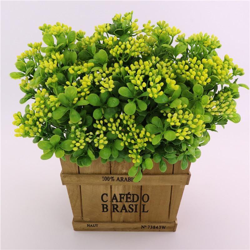 Yapay Milan Meyve Plastik Milan Çim Bitki Düğün Yılbaşı Ev Dekorasyon Aksesuarları Sahte Çiçek YSY322-L Bitkiler