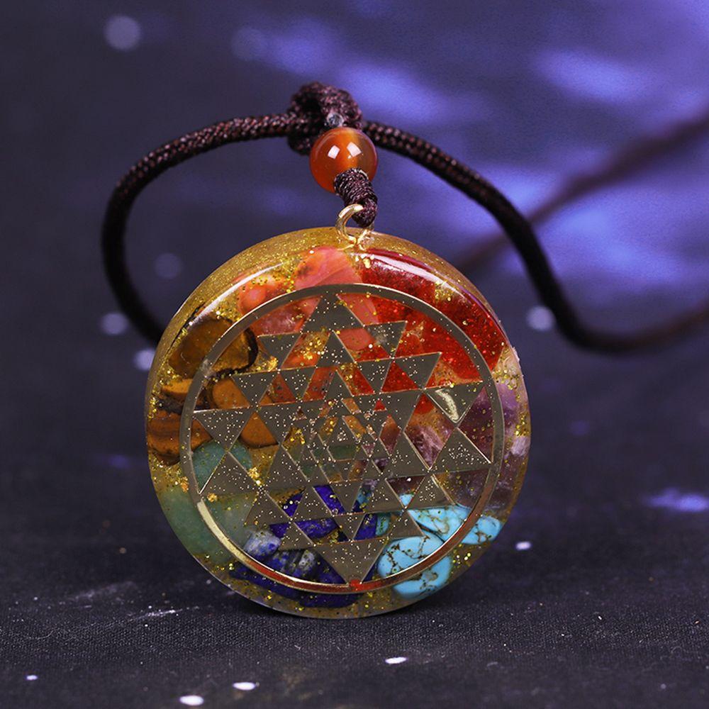 Orgonite /® Chakra Necklace 7 chakras healing crystal Arborea Crystals Design