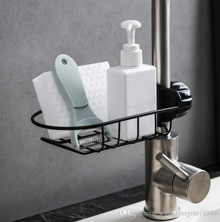الفولاذ المقاوم للصدأ صنبور المطبخ حامل adjustbale بالوعة العلبة المنظم الصابون فرشاة غسل الصحون السائل تجفيف فرشاة تخزين الرف