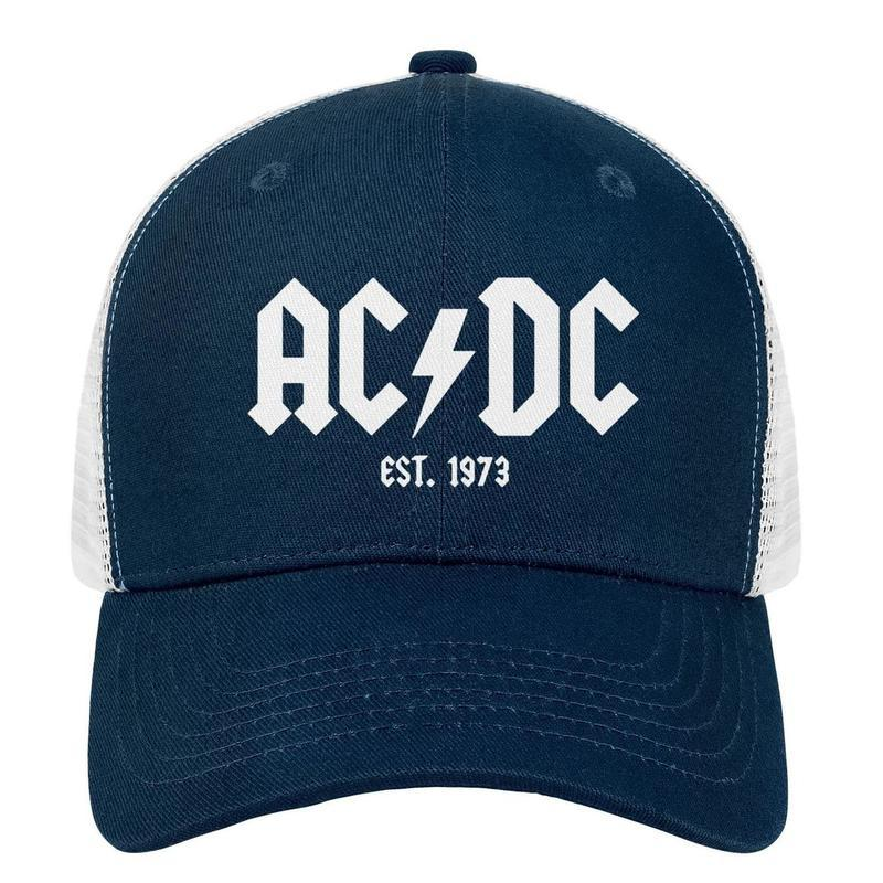 AC//DC Cap White Logo Berretto Cap con visiera baseball cap