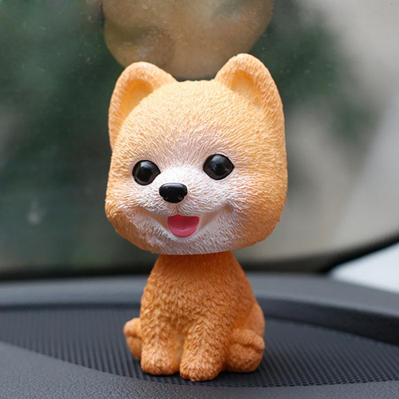 3 pcsOrnamenti Bobblehead Dog Annuendo Puppy Toys Car Dashboard Decor Toy Bella oscillazione Testa di aggrovigliamento Bambole Auto Interno Accessorio C19041201