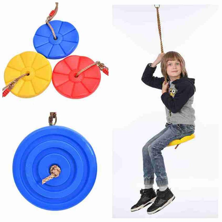 Kids Toys Outdoor Plastic Swing Disc Swing Indoor Swing Disc Climbing Swings For Children Garden Playground Camping Gadgets ZZA2348