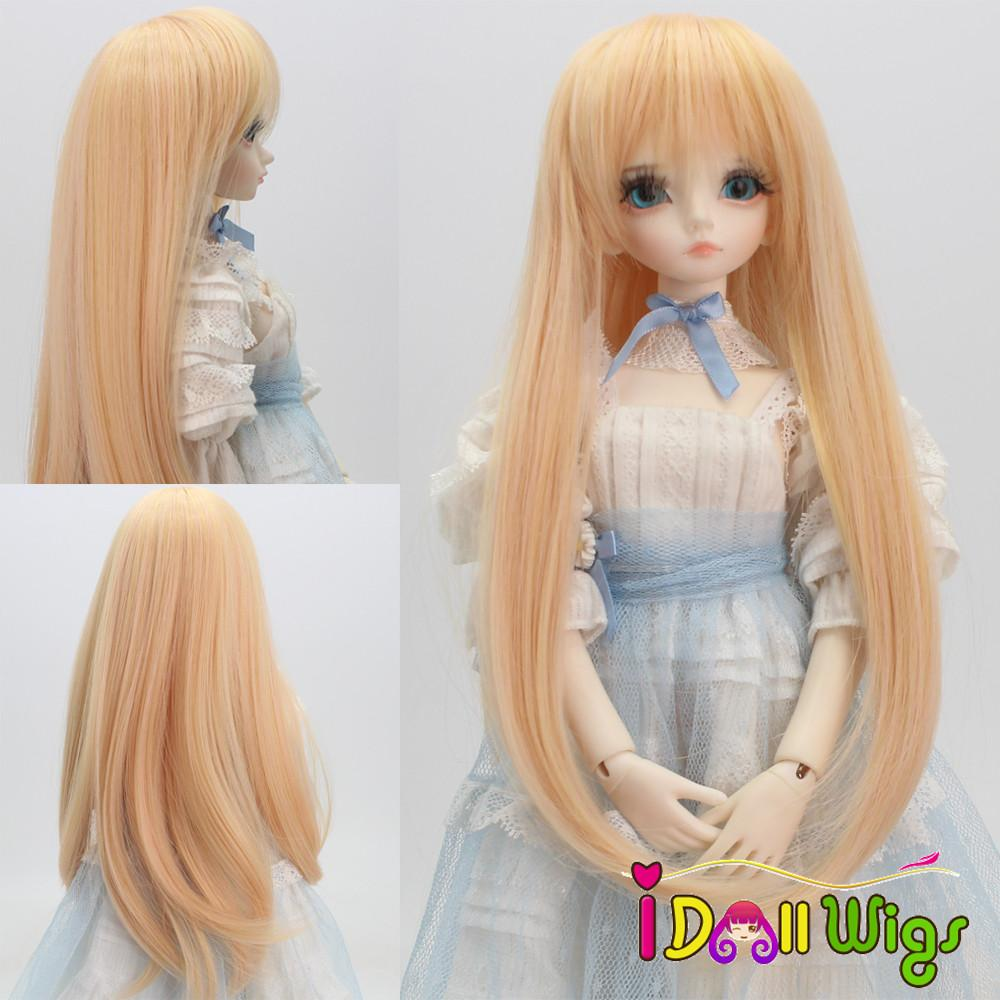 High Quality Korea Synthetic Golden Long Straight BJD/SD Doll Hair Wig 1/3 1/4 1/6 for Choose
