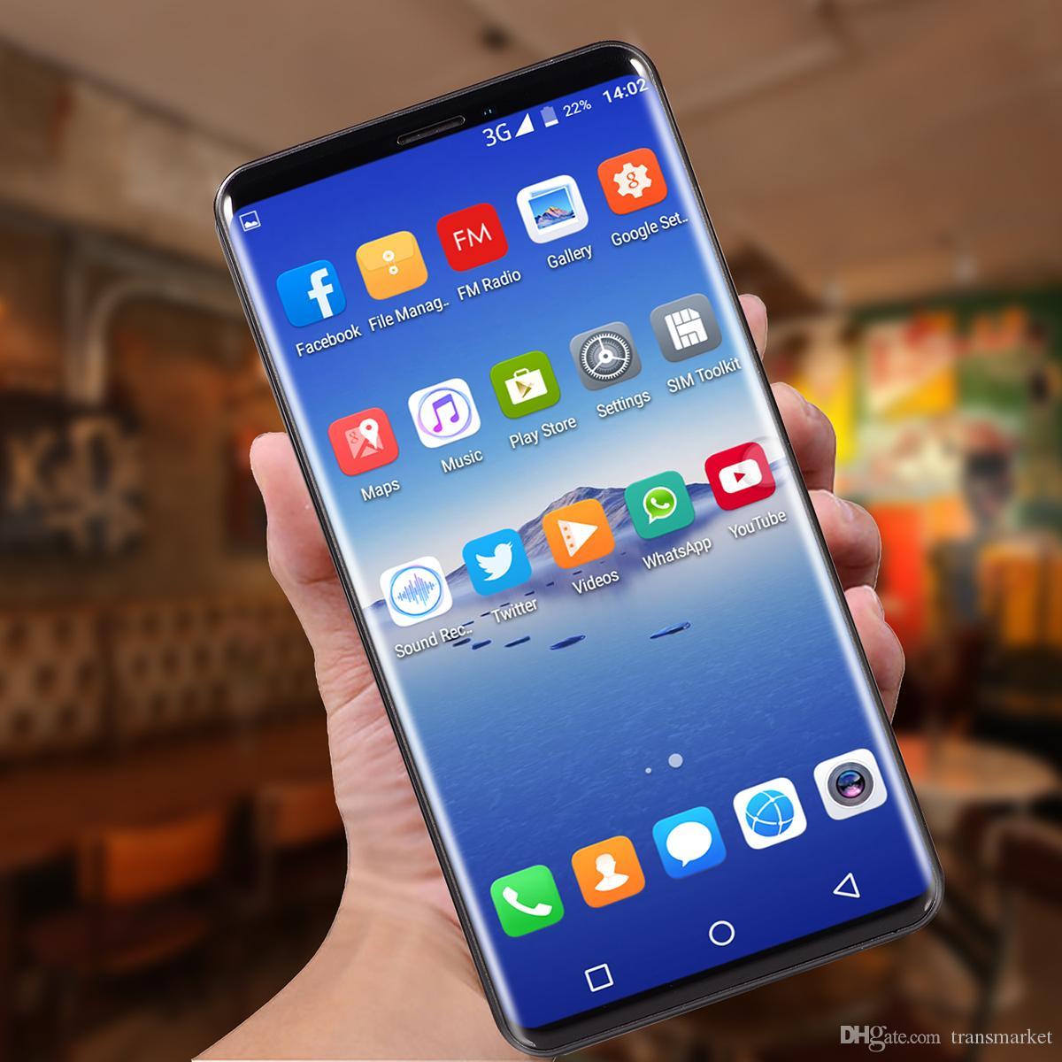 Venda quente P20 Pro MTK6580 telefone móvel octa core 3G 5.8 Polegadas 512 MB Ram 4G Rom pode Mostrado 4G Ram 32G Rom Celular