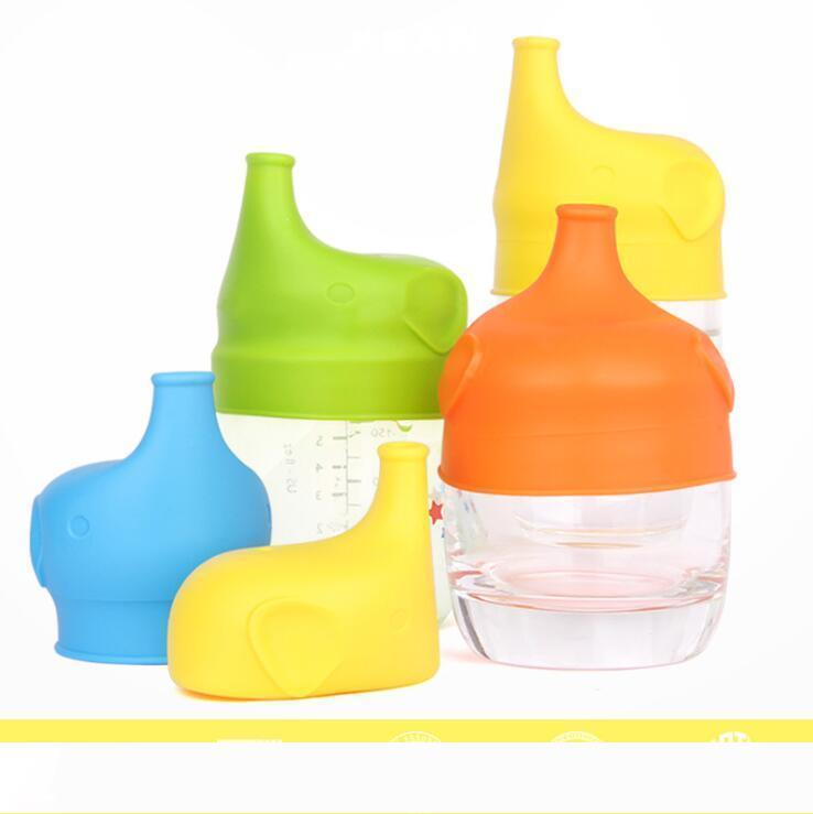 Silicone Sippy lid Nipple lids for any size Kids mug Toddlers Leakage Cup for Infants and Toddlers BPA Free 5 Colours LXL544-1