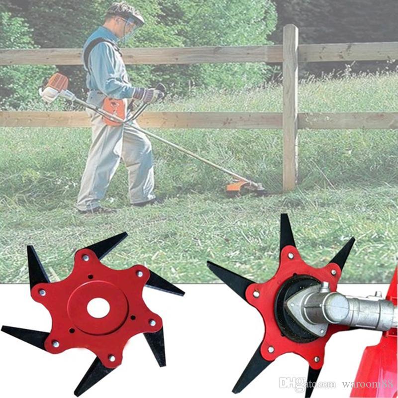 6 dientes desbrozadora Desbrozadora eléctrica Jardín Trimmer Strimmer la cuchilla del cortacésped Hierba cepillo herramientas de corte de piezas de repuesto para herramientas de jardín de piezas