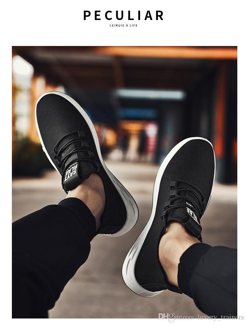 19 hommes de coussin chaussures de course à pied randonnée en plein air sport mode respirant chaussures noir blanc chaussures de sport confortable 16 heures