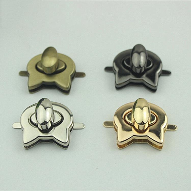 23x25mm del bolso Cerraduras hebillas de moda Bloqueo giratorio Encienda para el reemplazo de bricolaje Bolsas Monedero broches broche de cierre Accesorios