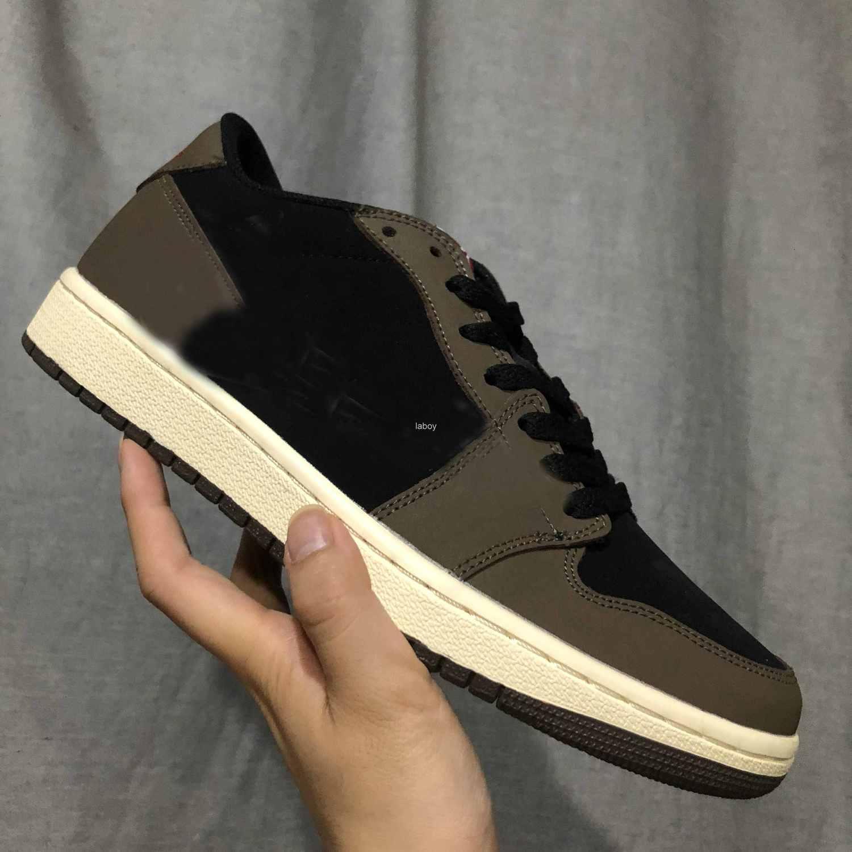 Tasarımcı 1 Düşük OG TS SP Basketbol Ayakkabı Erkek Eğitmenler Travis Scotts x 1s Cactus Jack Sepetleri Man Sneakers Sports des chaussures Zapato