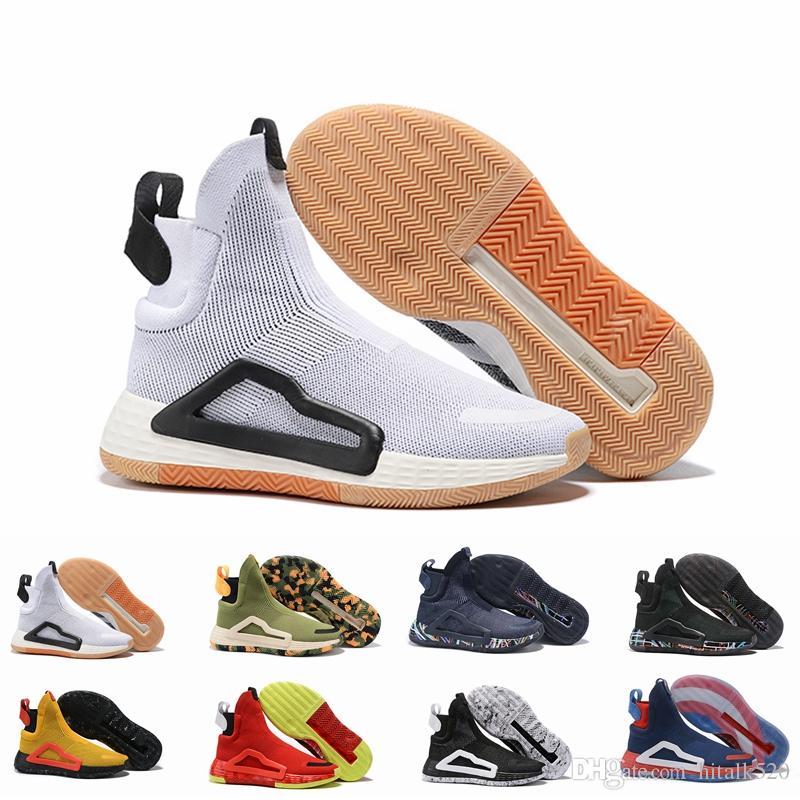 N3XT L3V3L Krem Beyaz Bahia Işık Kaptan Sakız PE Erkek Basketbol ayakkabı Erkekler Için çizmeler spor Tasarımcısı sneaker Şehir Çorap Ayakkabı Boyutu 46