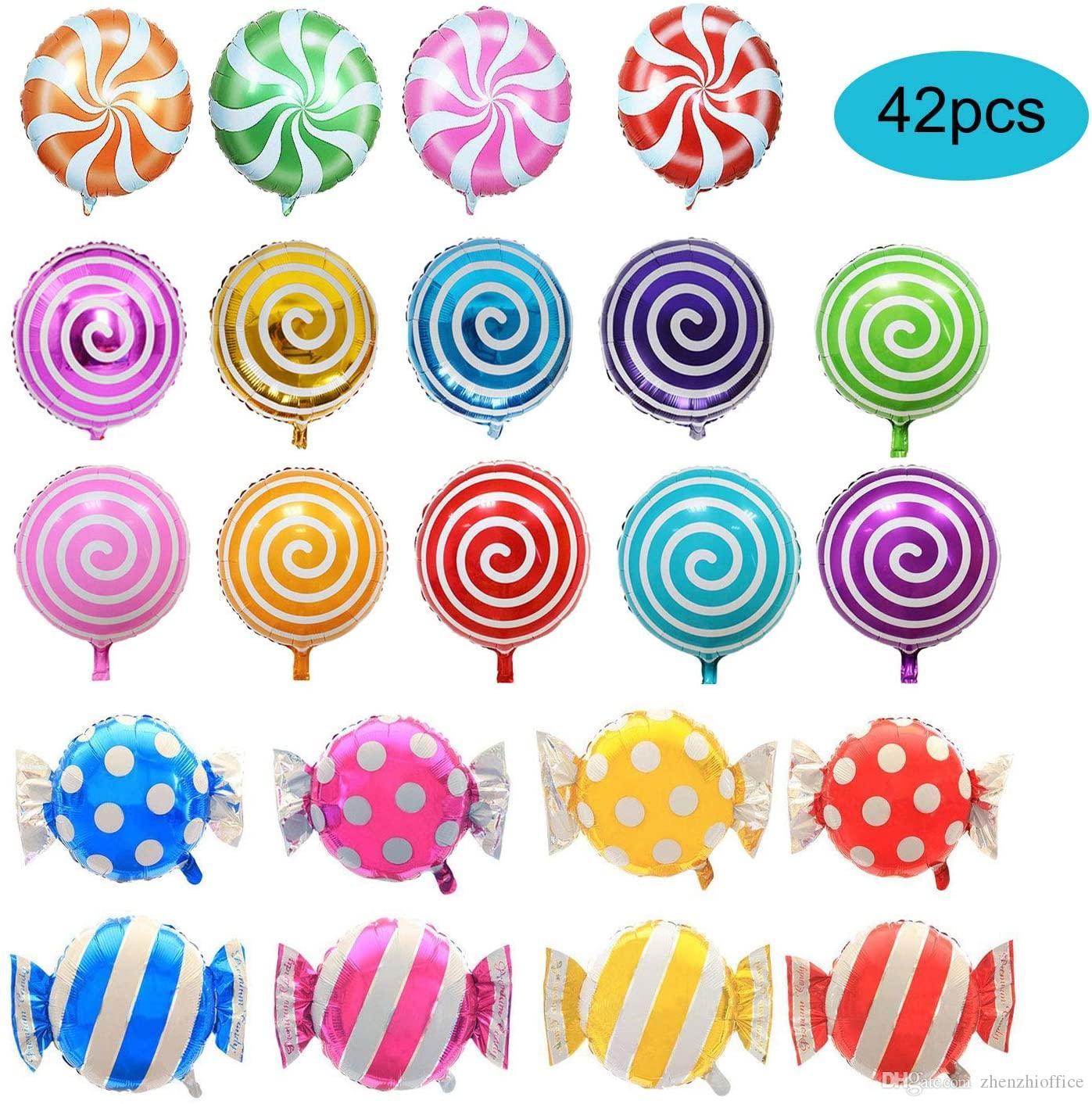 """42 PC 18"""" Caramelo dulce Globos, globo Lollipop redondo, boda Globos cumpleaños, Artículos de fiesta"""