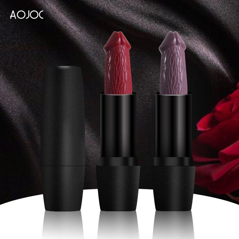 20 couleurs Penis Tête de pénis Rouge à lèvres Rouge à lèvres Longue Humidité Cosmétique Cosmétique Rouge Matte Maquillage Rossetto