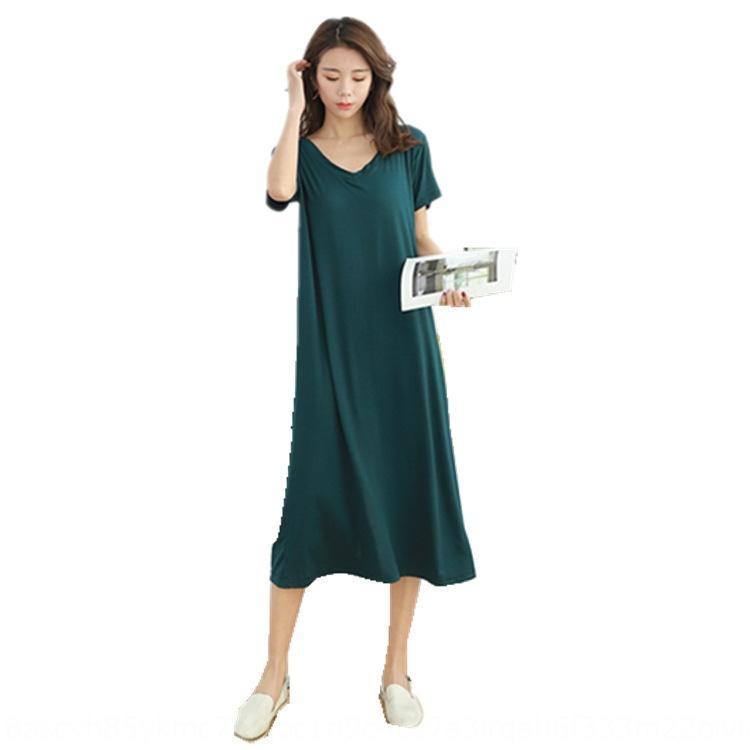 u2TAI 2020 donne lunghe nuova primavera delle donne e la grande spaccatura di nuovo abbigliamento estivo lunghi sciolti gonna incinta può Dimensione vestono abbigliamento formale