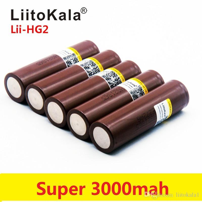 HG2 18650 3.7V 3000mah torcia elettronica batteria ricaricabile scarica ad alta potenza, 30A grande corrente flashlig alto potere